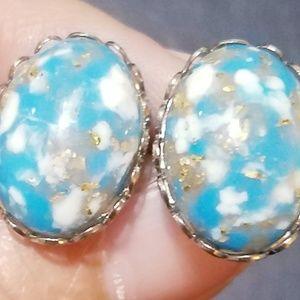 Other - Vintage Blue Stone Cufflinks